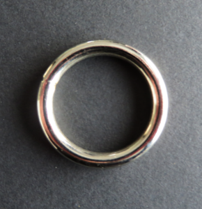 Ring 39 mm nikkel doorgang 30 mm